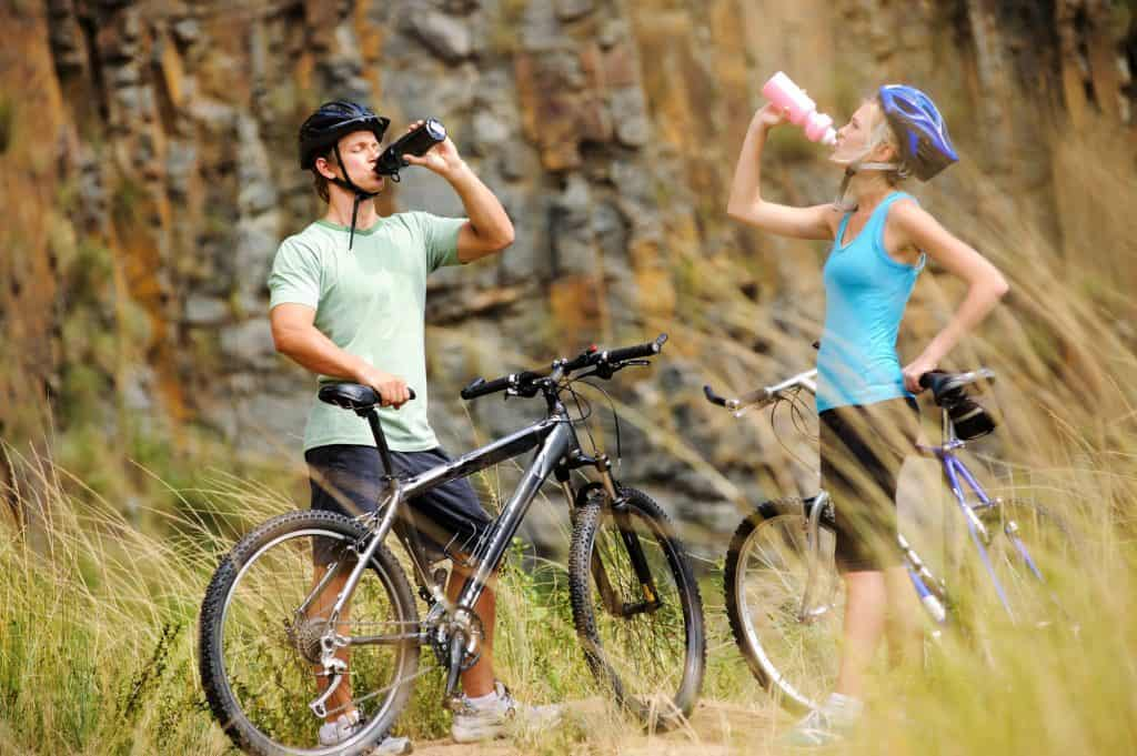 Couple Outdoor Cycling