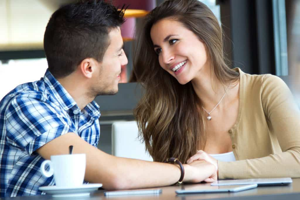 Couple Talking And Smiling
