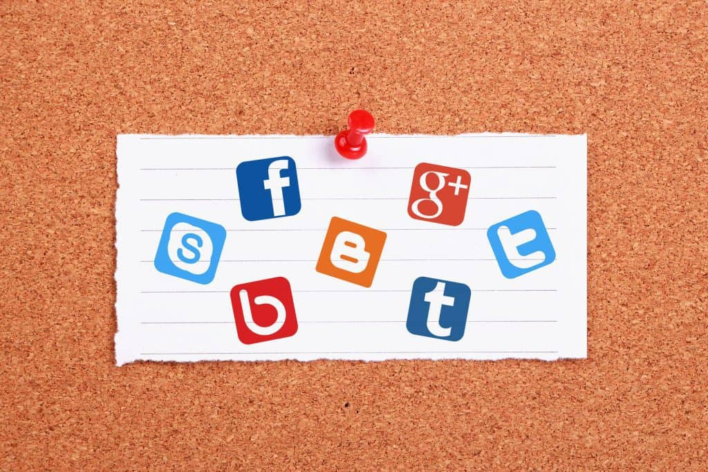 Social Media Icons On A Board