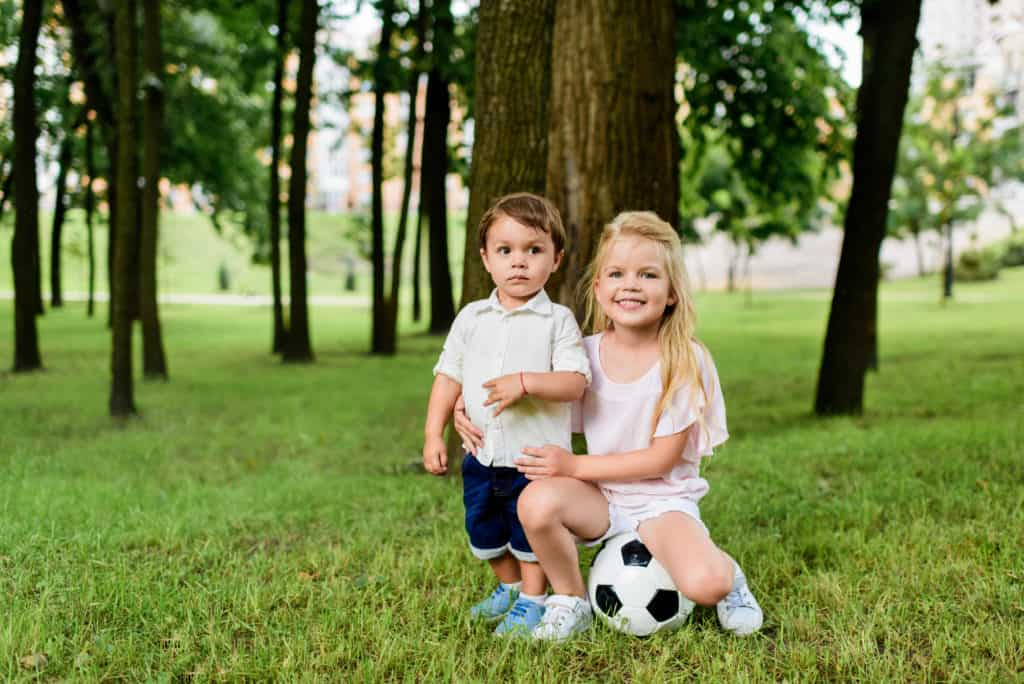 Children With A Soccer Ball