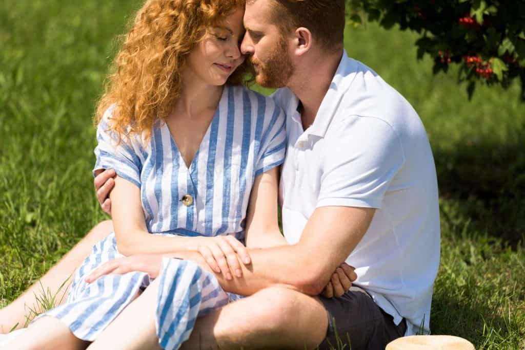 Couple On A Picnic Outdoors