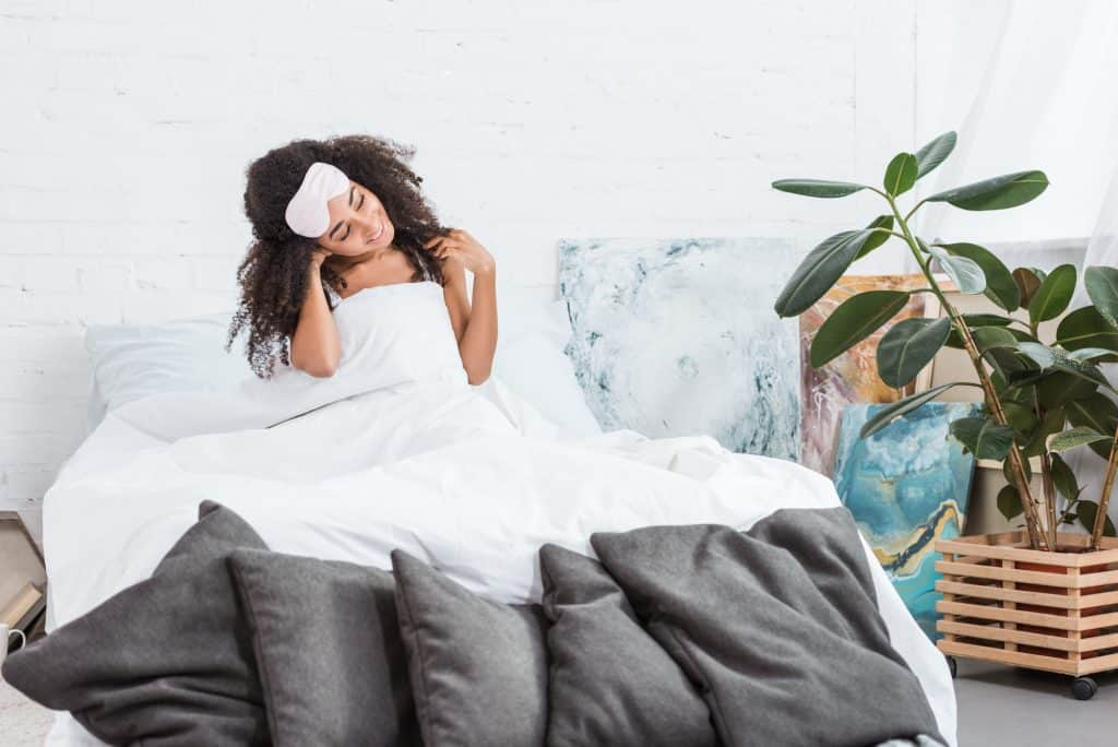 Woman Just Woke Up In Bed
