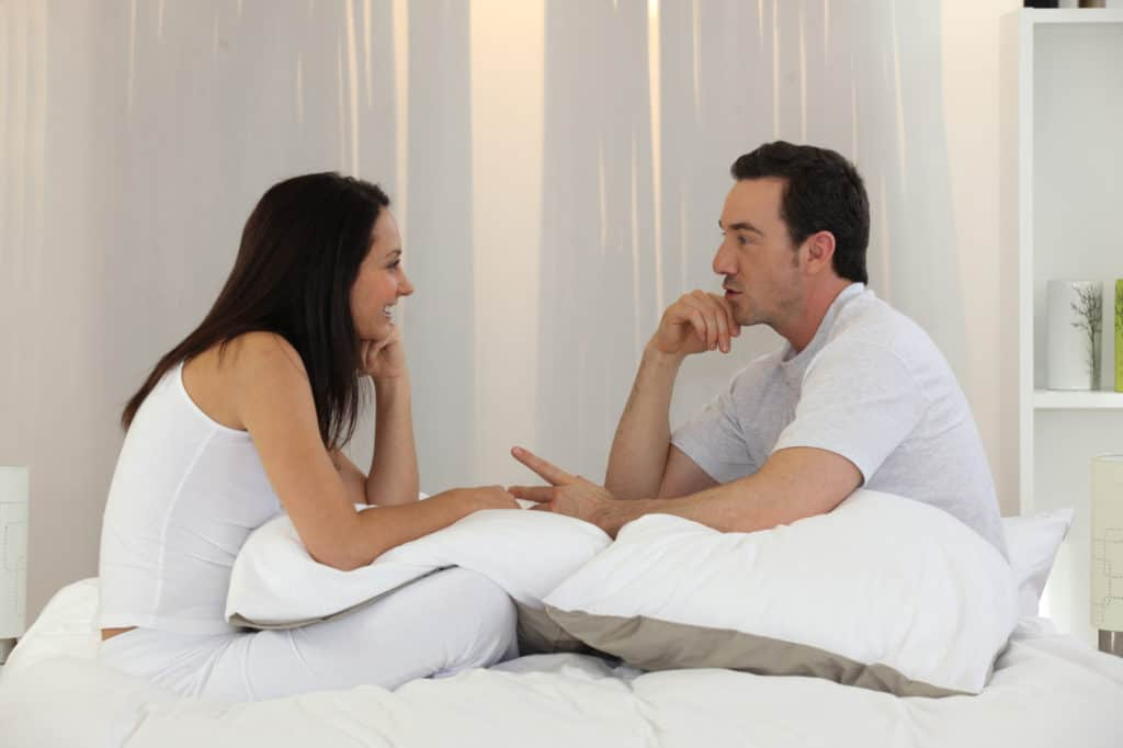 discuss with your partner how his actions affect you