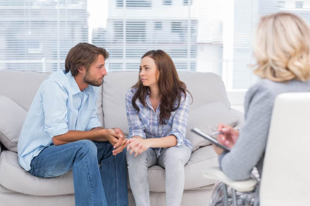 see a marriage and family therapist